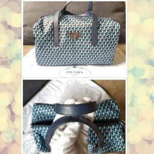 27e52095dd Prada Bags - Prada Blue Nylon Gym Tote BL0567